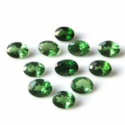 Genuine Green Tourmaline Gemstone Calibrated Oval Cut Faceted 3x4mm To 6x8mm