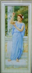 Watercolour of Young Lady in Grecian Dress