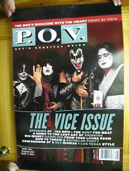Kiss Poster P.o.v. Magazine Cover The Vice Issue Band Shot