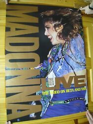 Madonna Poster Live Side View Face Shot The Video On Beta Vhs