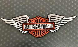 Harley Davidson motorcycles patches badge embroidered logo Organic wing Harley