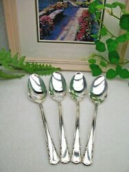 4 International Holmes Edwards May Queen Silverplate Oval Place Soup Spoons 1951