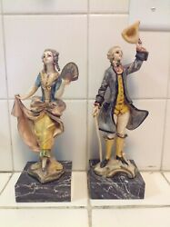 Fontanini Depose Italy Pair Of Lady And Gentleman 8 And 9 Tall 177 And 178
