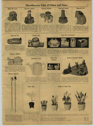 1931 Paper Ad Skull Cigarette Ash Tray China Earthenware Dogs Puppies