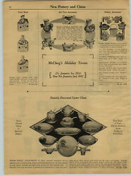 1931 Paper Ad Grotesque Animal Ash Trays Pottery Banko Cookie Jars Luster Ware