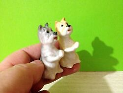 West Highland White Terrier puppies porcelain figurines Russia dog collection