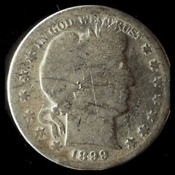1899-s Barber 90 Silver Half Dollar Ships Free. Buy 5 For 2 Off