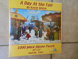 Jigsaw Puzzle 1000 Pieces 'a Day At The Fair', New Made In The Usa, Kevin Walsh