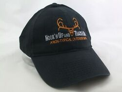 Hook'n Up And Track'n Down Non Typical Outdoor Show Hat Black Hook Loop Cap $15.13