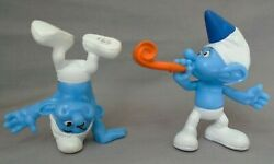 Mcdonald's Party Planner And Hefty Blue Smurf Cake Toppers Action Figure Toys 2013