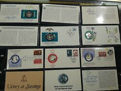Medalist Sterling Silver Coin &First Day Cover (6) Russia Ireland Space Age