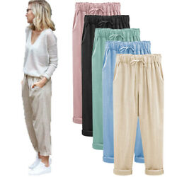 Fashion Women Gift Harem High Waist Loose Casual Summer Pants Slacks Trousers US