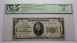 $20 1929 White Sulphur Springs Montana MT National Currency Bank Note Bill #3375