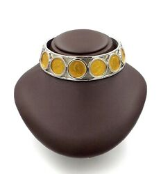 Marina B British Coin Sovereign Collar 18K Gold Stainless Steel Choker Necklace