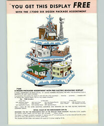 1958 Paper Ad 16 Pg Plasticville Usa Toys O Gauge Railroad Train Store Display