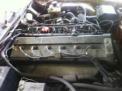 Complete 3.6 Engine And Transmission In Running And Driving 1988 Us Jaguar Xj6.