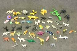 Mixed Lot Plastic Toy Animals Old Estate Find As Is Mix Jungle Farm Bag 2 Wk