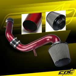 For 00-05 Mitsubishi Eclipse Gt 3.0l V6 Red Cold Air Intake +red Filter Cover