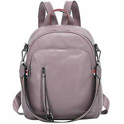 Shoulder Bags Fashion Genuine Leather Backpack Purse For Women Causal 13quot;Taro $94.83