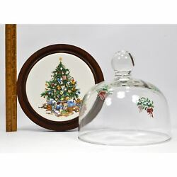Vintage Cerno 'christmas Tree' Prototype Domed/covered Cheese Dish 1 Of Just 4