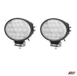 2x Powerful Oval 65w Led Work Lights 12-24v Lamp For Agricultural Truck Tractors