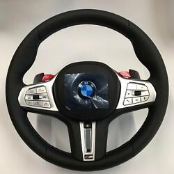 Bmw Oem F90 M5 Tri-color Stitching M Sport Heated Steering Wheel Complete New