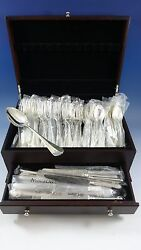 Medallion By Cassetti Sterling Silver Dinner Flatware Set Service 43 Pieces New