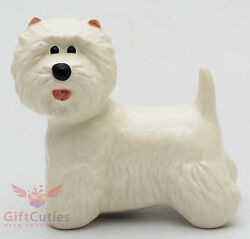 Porcelain Figurine of the West Highland White Terrier dog
