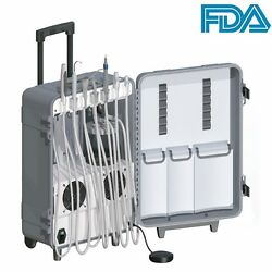 Dynamic Dental Portable Unit+self-contained Air Compressor+high/low Vac Suction