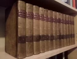 The History of England Hume and  Smollet 13 Vols 1802-07 Complete Leather Fine