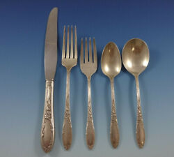 Virginian By Oneida Sterling Silver Flatware Set For 8 Service 44 Pieces