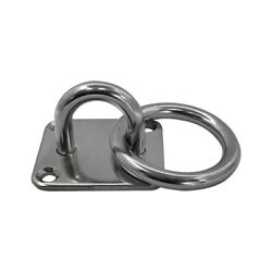 Marine Hardware Square Pad Eye Plate With Ring Set 4 Pc 1/4 Welded Formed