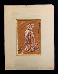 Antique Karl Karoly Lotz Hungary1833-1904 Watercolor On Paper