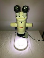 Leica Mz75 Microscope W/ 10x/23 Eyepieces And Plan 1.0x Lense And Led Light