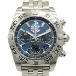 Free Shipping Pre-owned BREITLING Chronomat 44 Blue Impulse Japan Limited AB0110