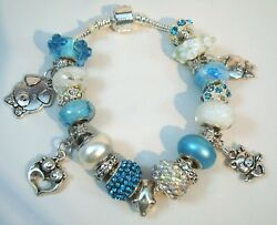Hog Heaven European Style Charm Murano Beads Pig Crystals Bracelet You Pick Size