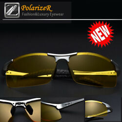 Tac HD Polarized Night Vision glasses Men Driving Sport Pilot Aviator sunglasses $8.99