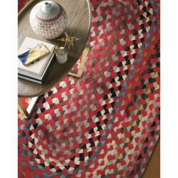 Capel Rugs St. Johnsbury Wool Heavy Double Braid Country Red Classic Braided Rug