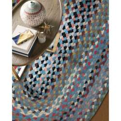 Capel Rugs St. Johnsbury Wool Heavy Double Braid Country Colony Blue Braided Rug