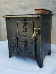 Antique FrenchRare Large CookerStove for Child Cast Iron Late 19th Toy Doll