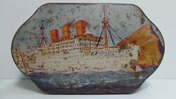 Griffith Cruising Toffee Tin Steam Ship Ocean Liner Boat Sweets Lolly