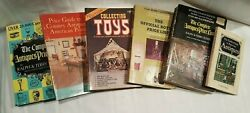 Lot Of 6 Collectible Antique Identification Price Guide Books - Bottles - Toys
