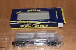 American Flyer Southern Pacific Flatcar With Two Piggyback Trailers 6-48532