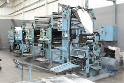 Goss Community Web Press in very good working condition connected to power.