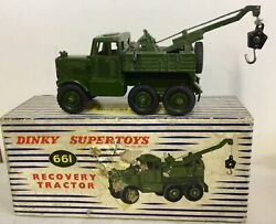 Dinky Toys Military Recovery Tractor 661. Excellent In Original Worn Box
