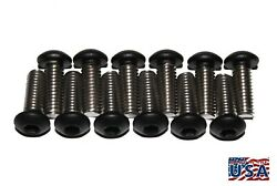 Qty 12 M6-1.0 X 20powder Coated Flat Black Stainless Steel Button Head Bolts
