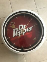 Dr Pepper Clock Neon Large