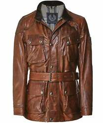 Belstaff Men's Waxed Leather Panther Jacket