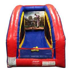 Inflatable Carnival Game Portable Baseball Interactive Sport Built-In Blower