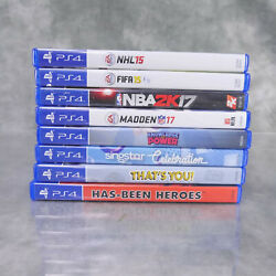 Lot Of 8 Ps4 Games Nhl15, Nba2k17, Madden 17 And More Euc All With Cases  S1e1